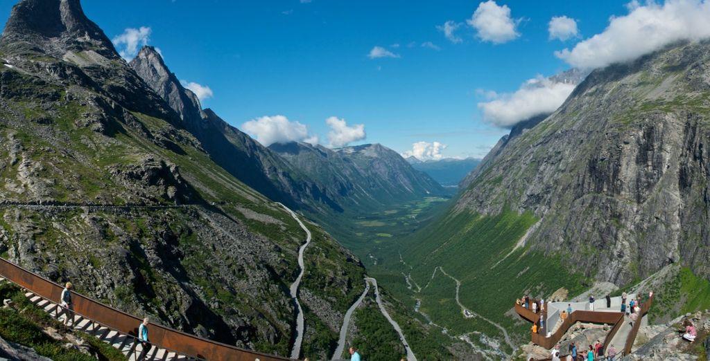 Ammirate la bellezza del fiordo Trollstigen