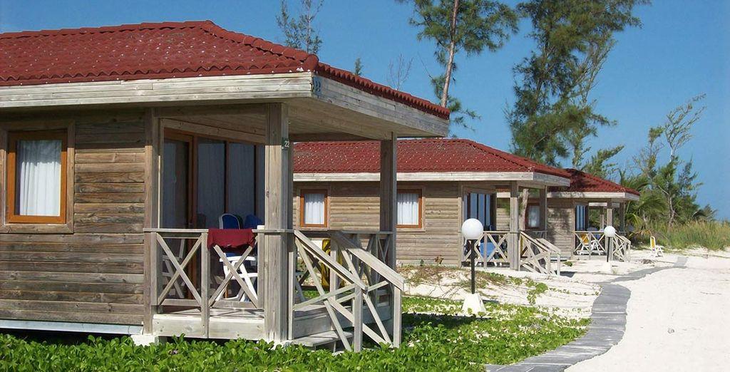 Dove vi abbiamo riservato un caratteristico bungalow sulla spiaggia