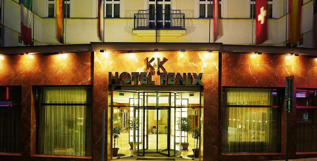 L'hotel ha una magnifica e imponente facciata