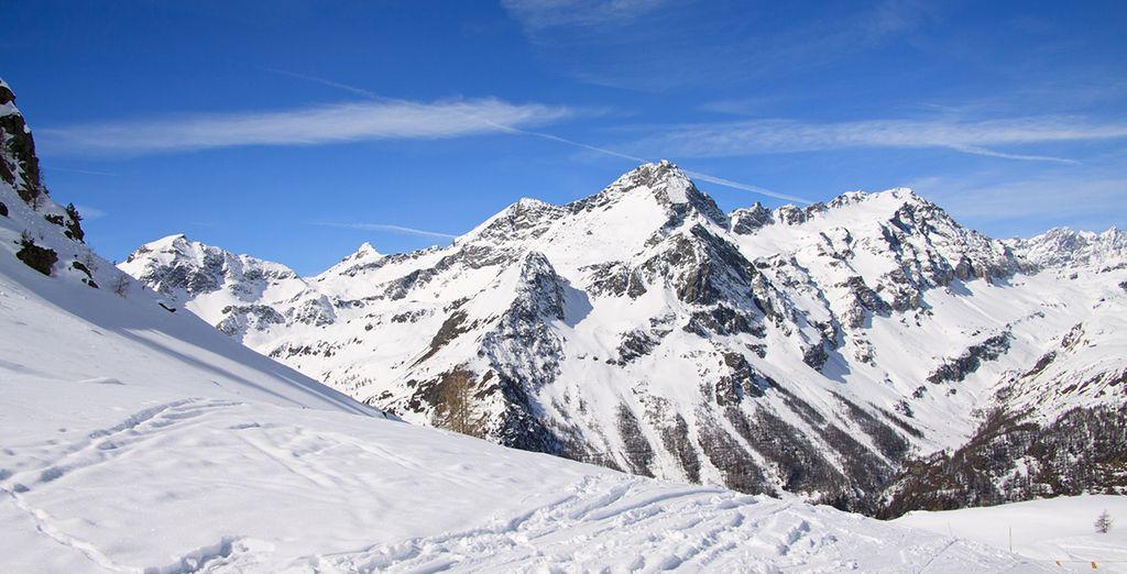 Fotografia delle montagne della Val d'Aosta