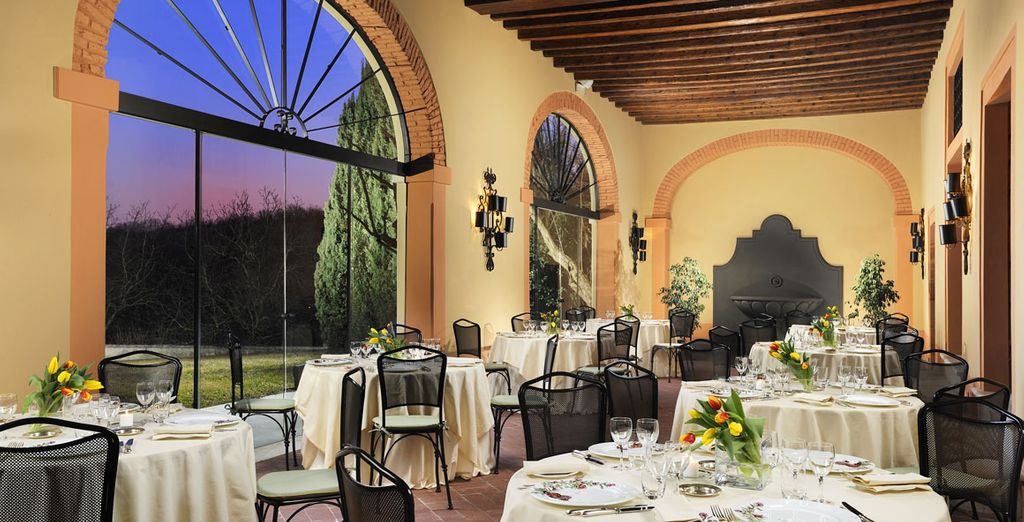 Il ristorante è una location perfetta per una cena stellata a lume di candela