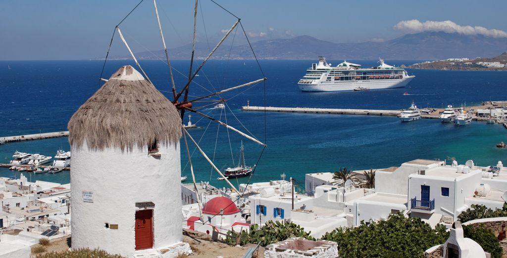 Dalla vostra nave potrete ammirare i panorami mozzafiato della Grecia