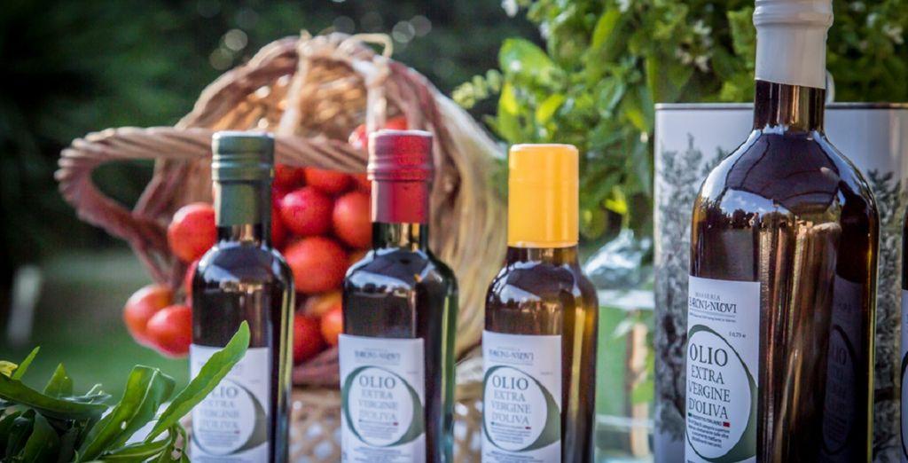 Voyage Privè vi offre la possibilità di acquistare olio e vino a un prezzo conveniente solo per i nostri soci