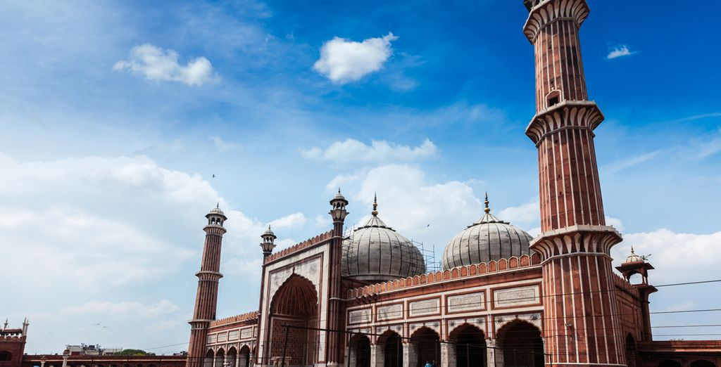 Prima tappa è Delhi dove visiterete la Moschea di Jamma