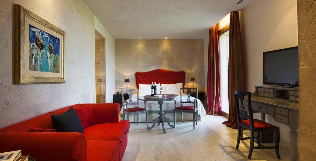 o nelle eleganti Castle Suite/ Castle Junior Suite