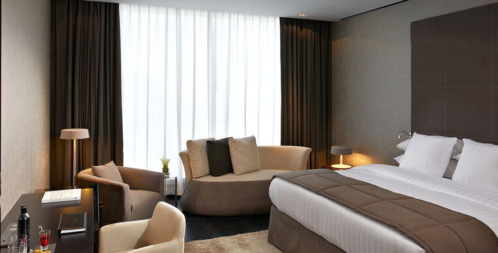 Potrete rilassarvi in prestigiose camere Deluxe grazie all'upgrade gratuito