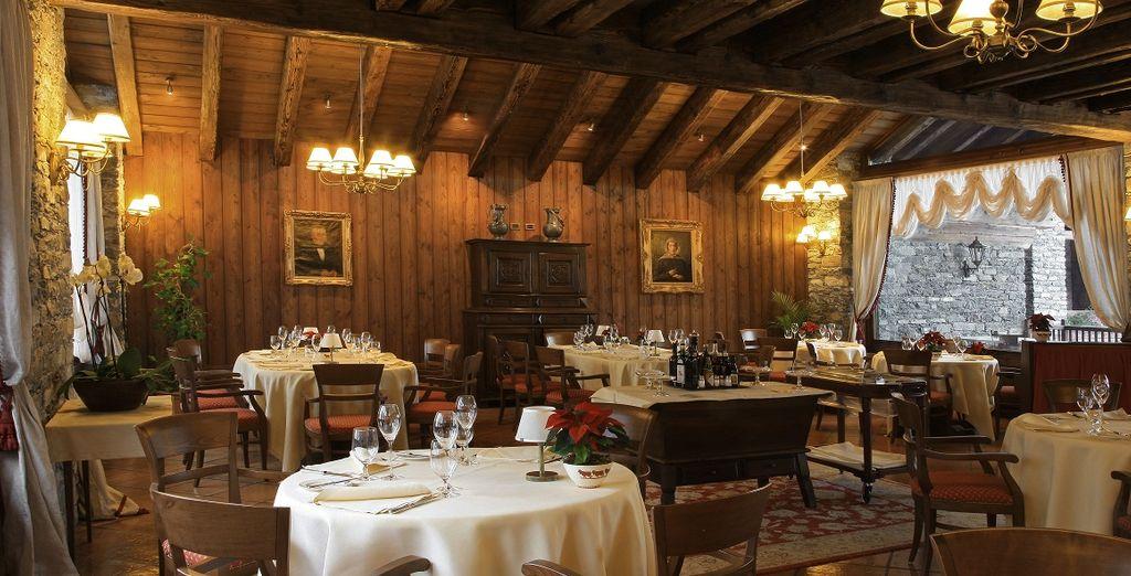 I piatti serviti nelle due sale ristorante saranno una gioia per il palato e gli occhi