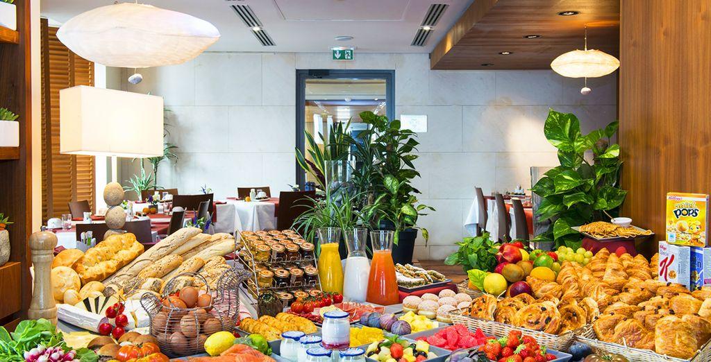Deliziate ogni mattina i vostri palati con una ricca colazione a buffet