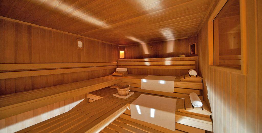 Sauna e bagno turco vi aspettano per momenti di puro relax