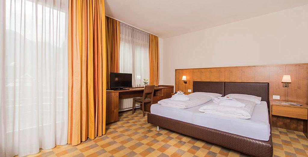 Soggiornerete in spaziose camere Classic, per una vacanza indimenticabile