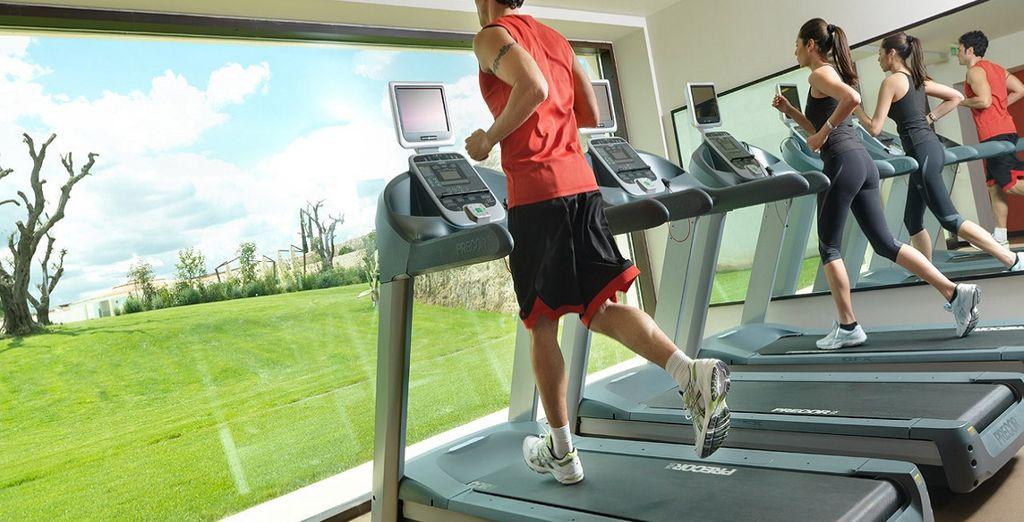 Continuate il vostro allenamento quotidiano nella palestra attrezzata