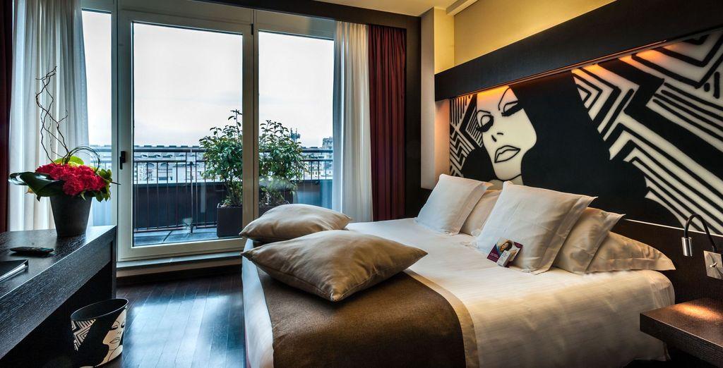 Hotel di alta gamma a Milano, selezionato da Voyage Privè, camera doppia con tutti i comfort vicino a tutte le attività