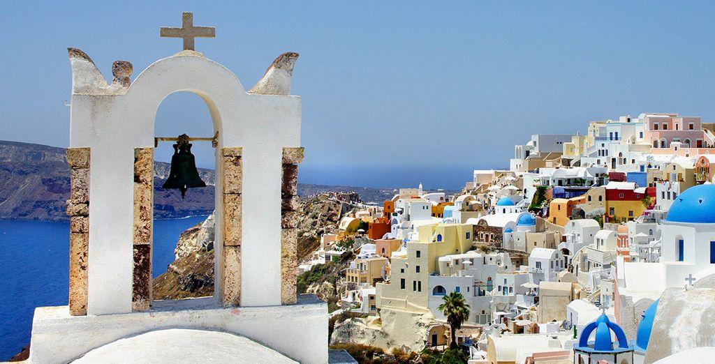 Fotografia della città di Santorini