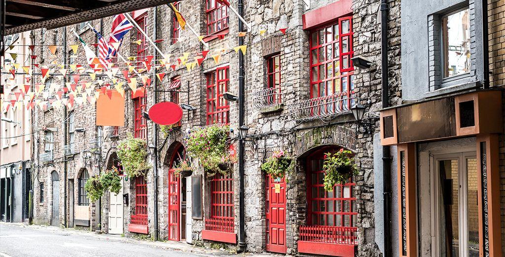 Fotografia di un vicolo a Dublino, la capitale irlandese dell'Irlanda