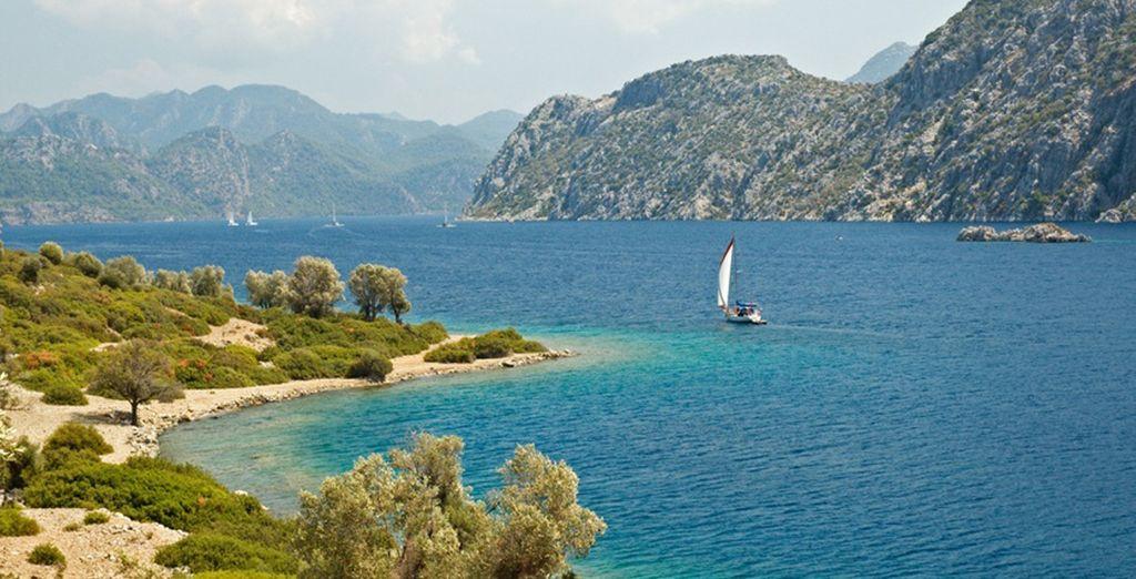 Paesaggi della Turchia e spiagge paradisiache che si affacciano sul Mar Mediterraneo