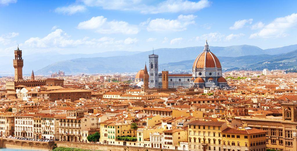 Fotografia della città di Firenze e dei suoi monumenti storici: la cattedrale santa maria del fiore