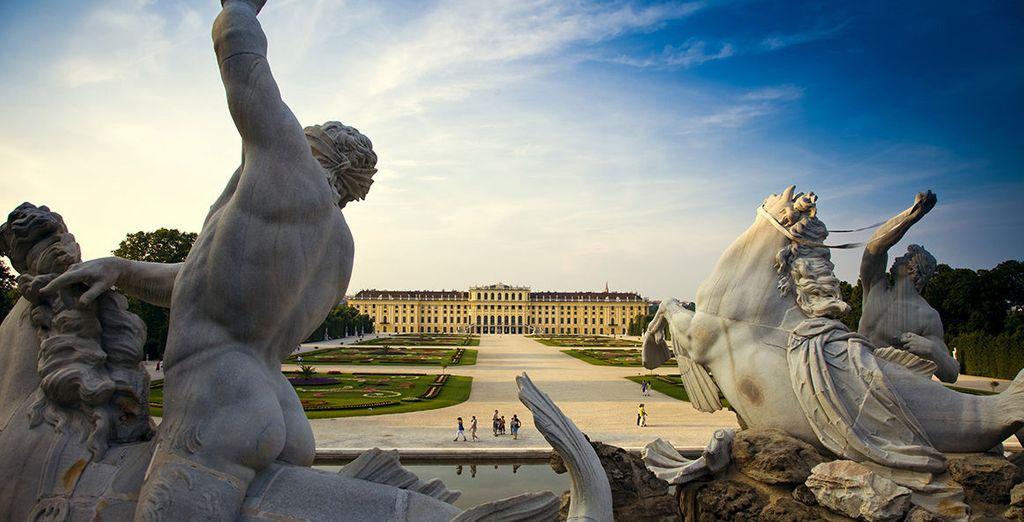 Fotografia del castello di Schonbrunn in Austria