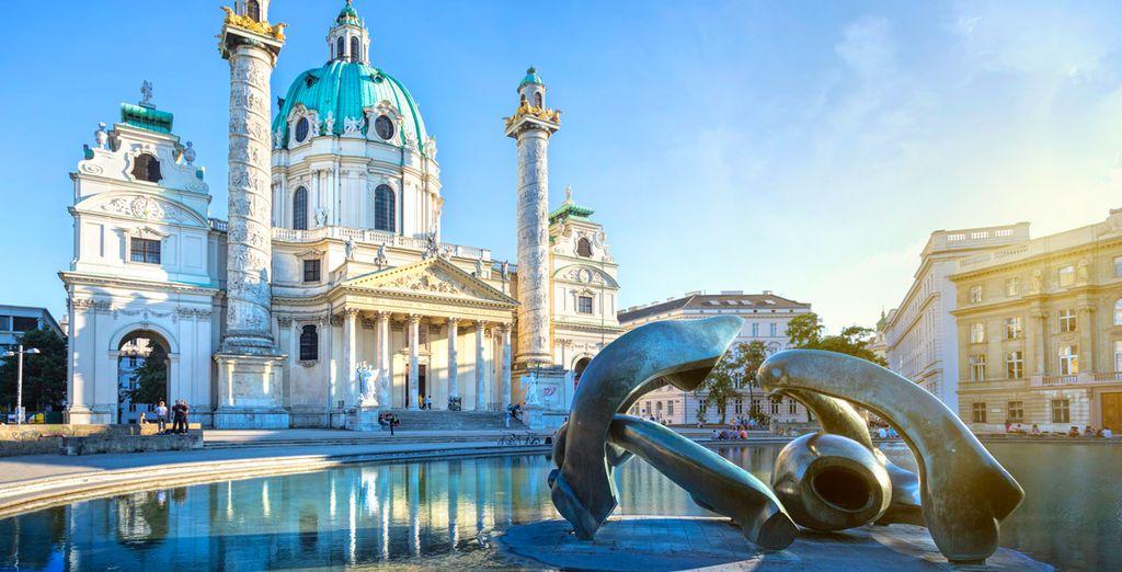 Fotografia della città di Vienna in Austria