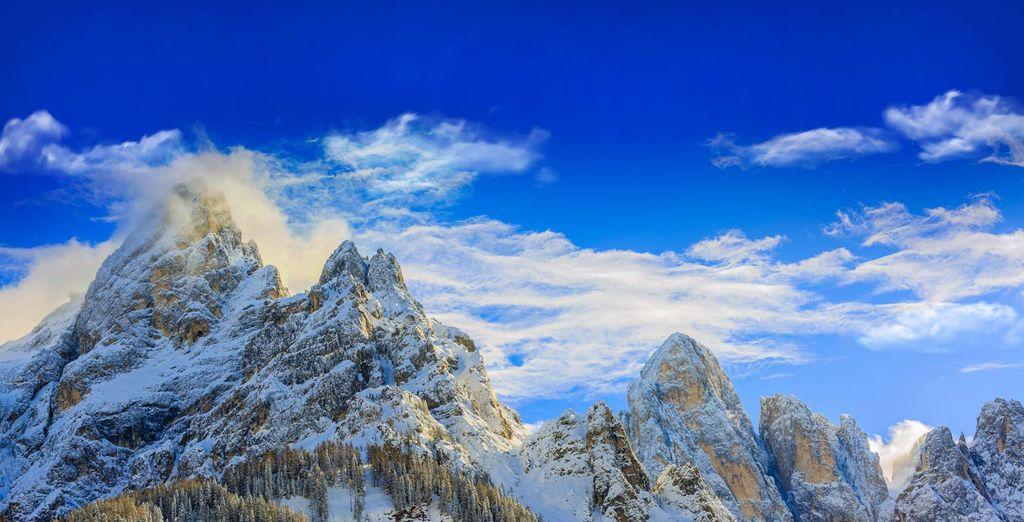 Fotografia delle Alpi italiane con la neve