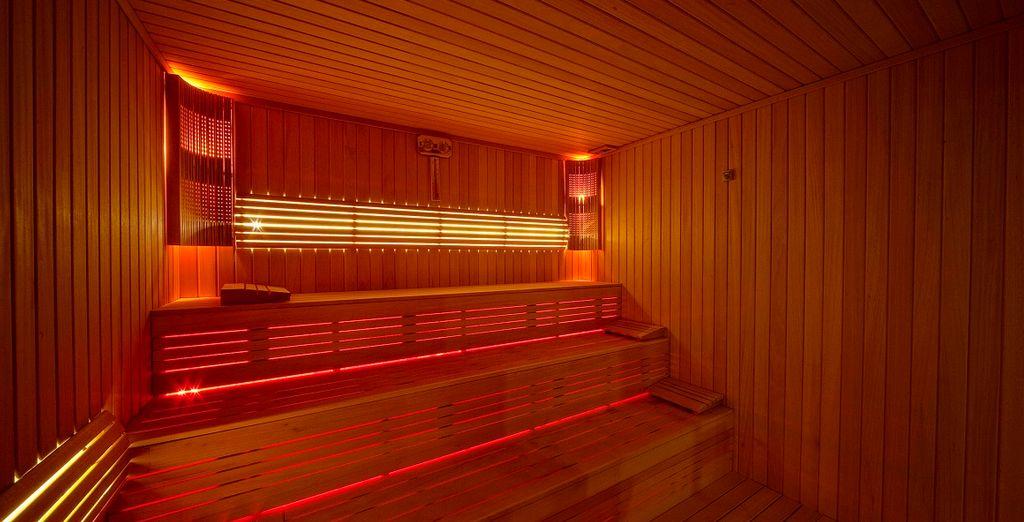 Come le sedute nella calda sauna