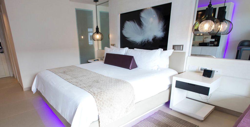 Potrete soggiornare in una camera Luxury