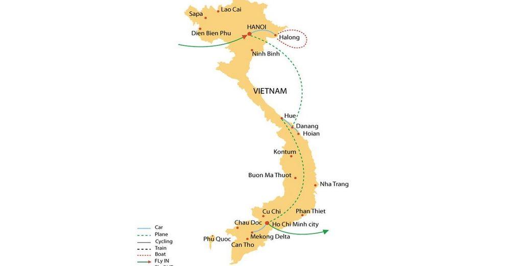 L'itinerario del vostro Tour