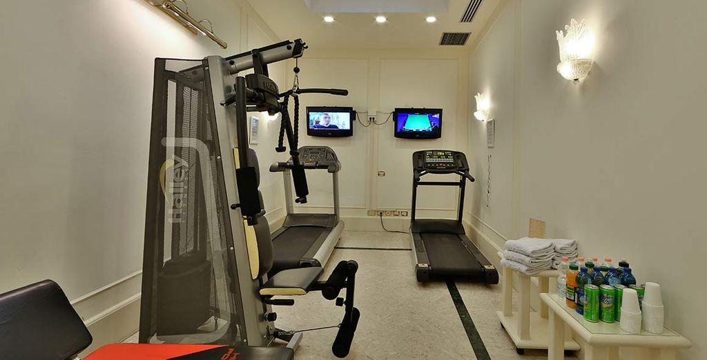 Usufruite dell'accesso gratuito al fitness center