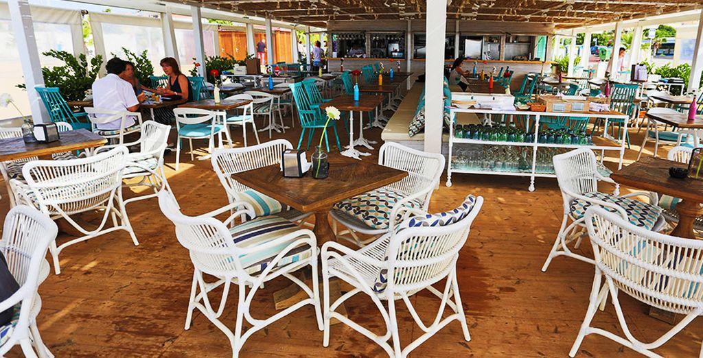 dove troverete anche un ristorante sulla spiaggia
