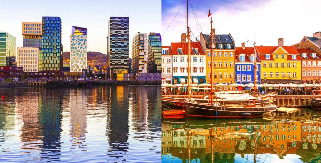 Partite per un viaggio alla scoperta di due splendide capitali: Oslo e Copenhagen