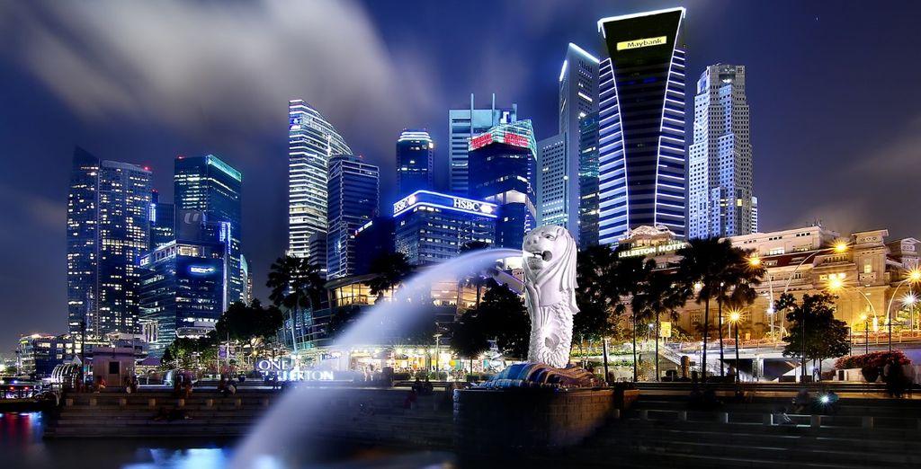 Singapore di notte