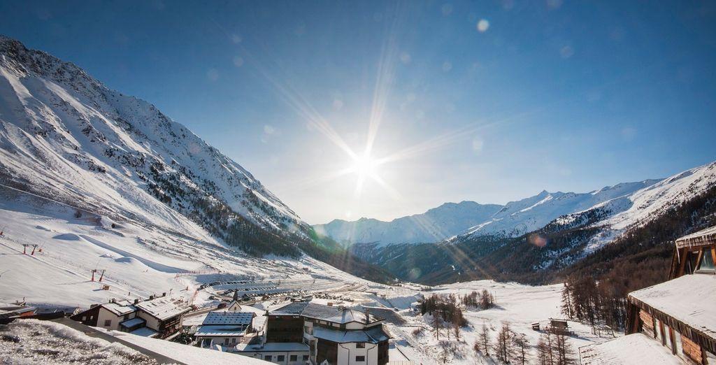 e ammirate lo spettacolo che solo le vette innevate delle Alpi possono offrire