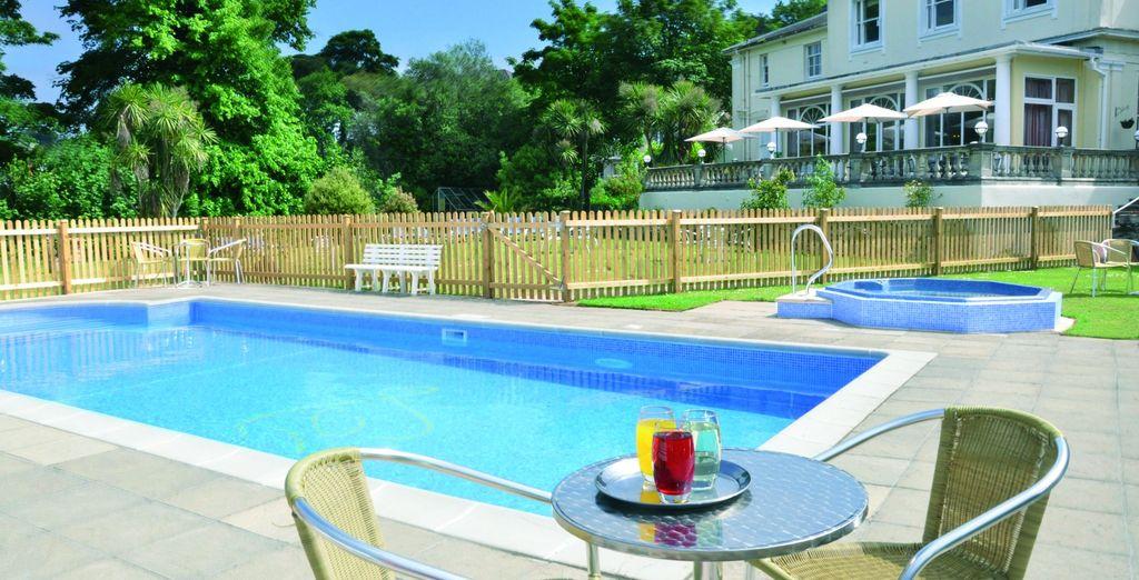 Hotel di charme nel Regno Unito con piscina e camera confortevole
