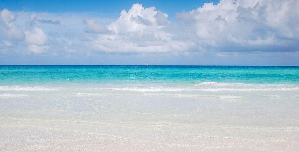 E i colori blu e turchesi del cielo e del mare sembreranno dipinti