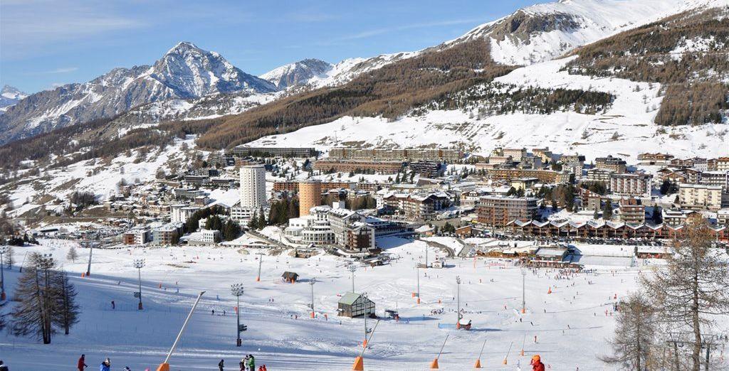 Fotografia delle migliori stazioni sciistiche di Sestriere in Italia