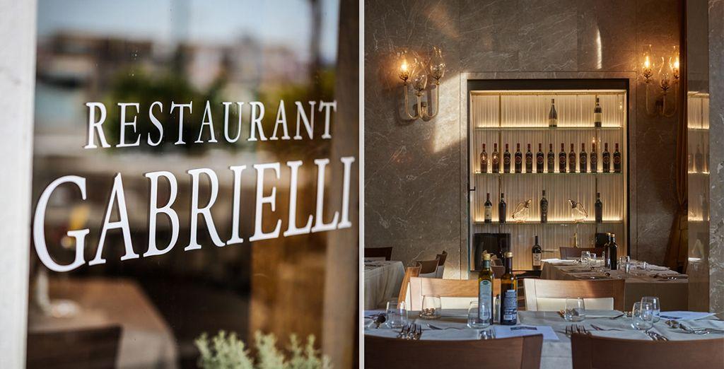 Il ristorante dell'Hotel Gabrielli vi attende