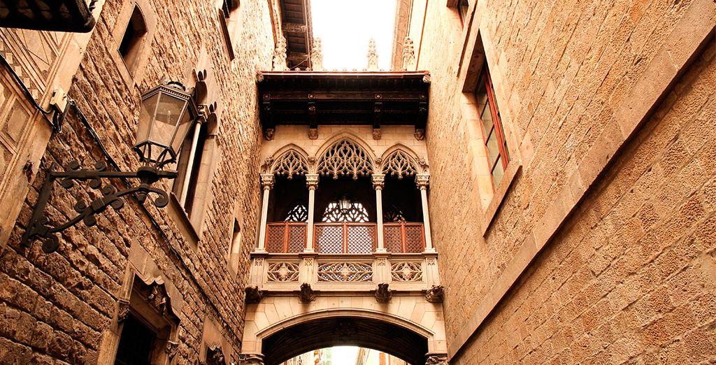 Fotografia del Quartiere Gotico in Spagna, Barcellona