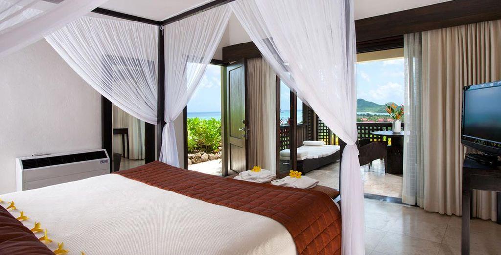Soggiornerete in una confortevole camera Luxury