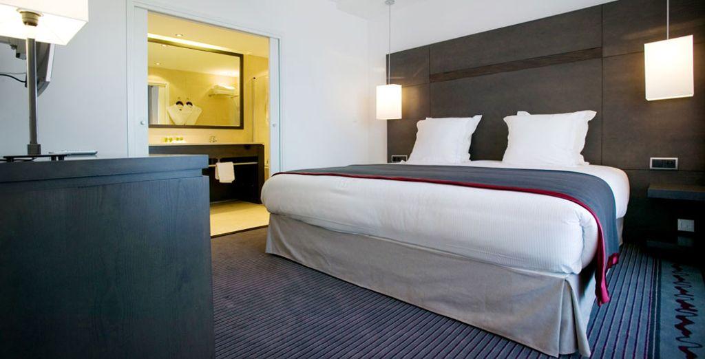 Tenzij u natuurlijk voor de Suite kiest, uitgerust met privéterras en een schitterend panoramisch uitzicht