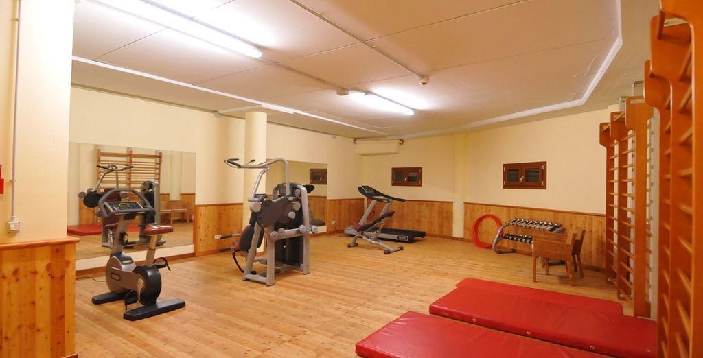 Of maak gebruik van de fitnessruimte