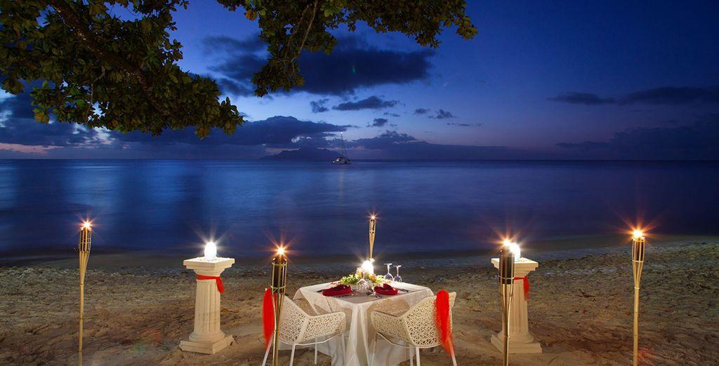 Romantiek alom tijdens een diner voor twee...