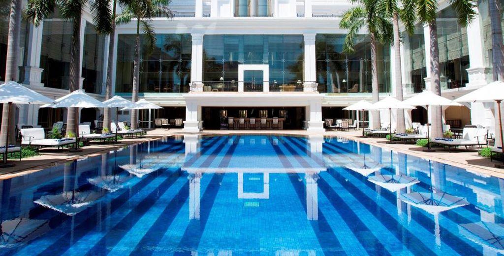 Gedurende de hele reis verblijft uin luxueuze 5* hotels (Premier Indochine Palace Hotel)