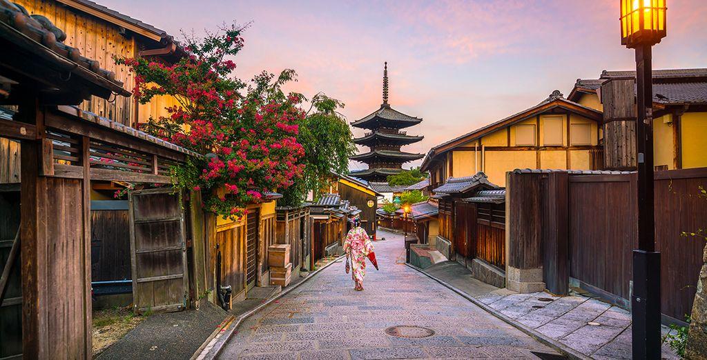 Om tenslotte te eindigen in het prachtige Kyoto