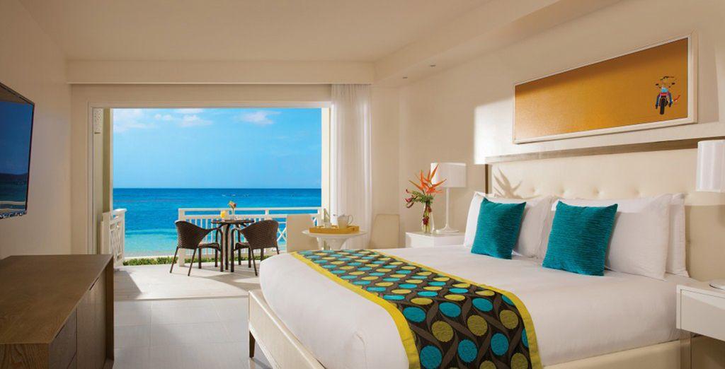 Installeer u in uw Sun Club Ocean View Kamer