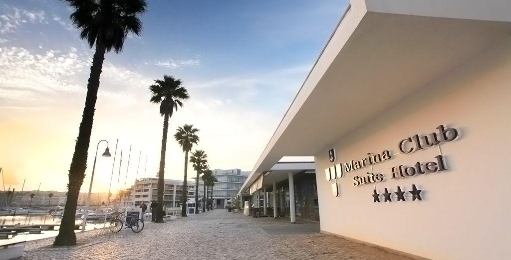 Welkom bij de Marina Club Lagos Resort 4*, grenzend aan de jachthaven