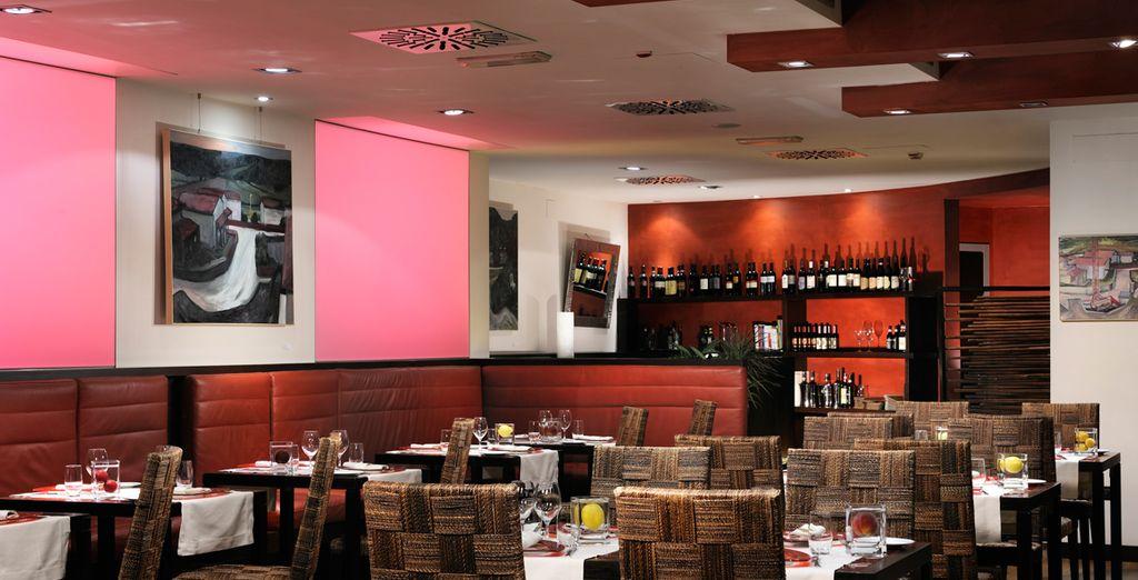 Het restaurant Riflessi biedt lokale specialiteiten aan