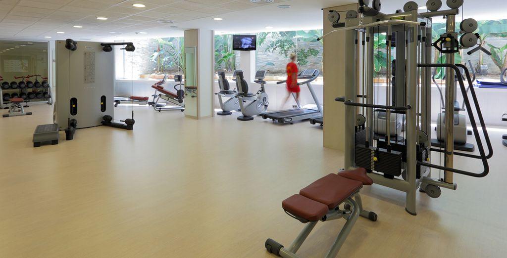 Maar u kan ook even gaan sporten in de fitness ruimte