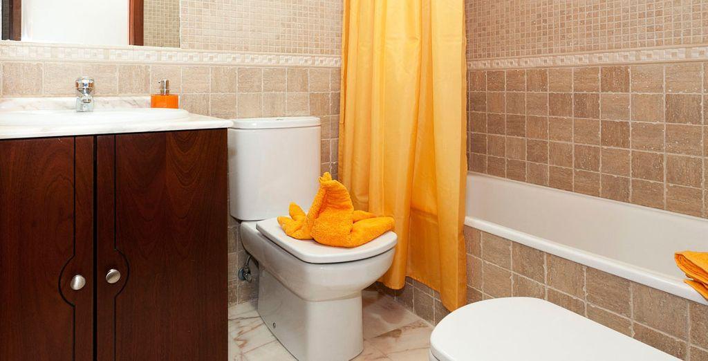 Badkamers zijn uitgerust tot in de puntjes