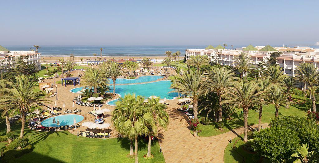 Aan de rand van de oceaan en dichtbij Agadir