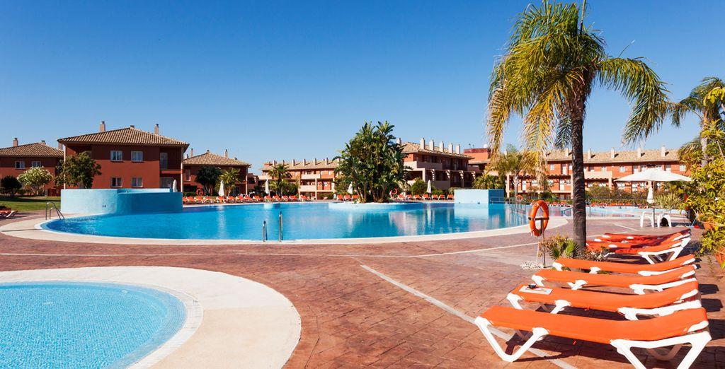 En een prachtig terras om van de Spaanse zon te genieten