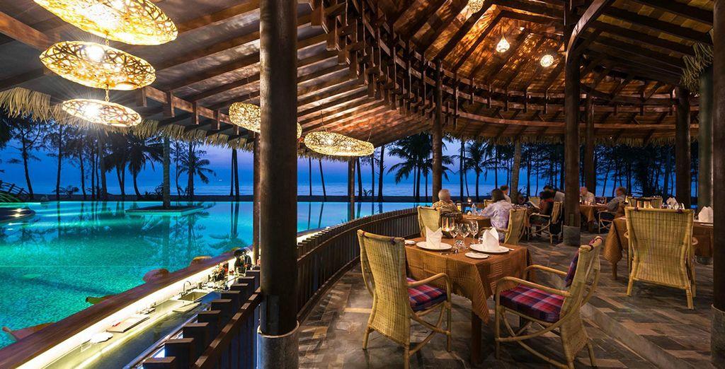 Romantisch dineren aan het strand...